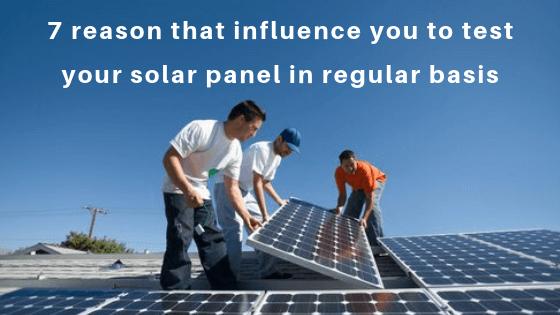 test your solar panel