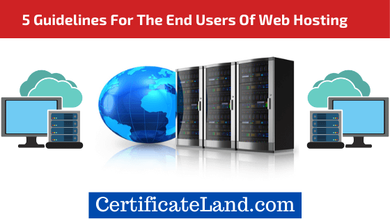 End Users Of Web Hosting