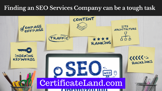Finding an SEO services company