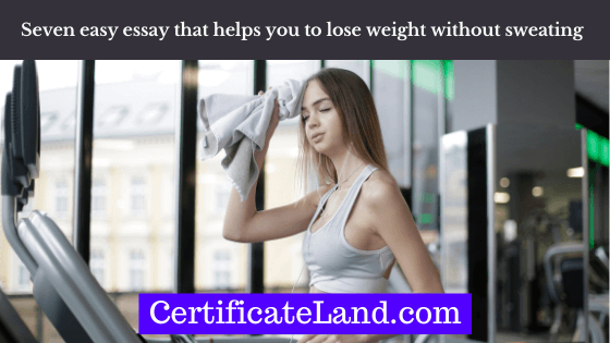 lose weight without sweating